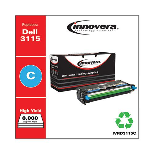 Remanufactured Cyan High-Yield Toner, Replacement for Dell 3115 (310-8379), 8,000 Page-Yield. Picture 2