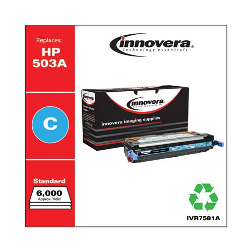 Remanufactured Cyan Toner, Replacement for HP 503A (Q7581A), 6,000 Page-Yield. Picture 2