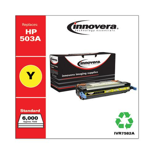 Remanufactured Yellow Toner, Replacement for HP 503A (Q7582A), 6,000 Page-Yield. Picture 1