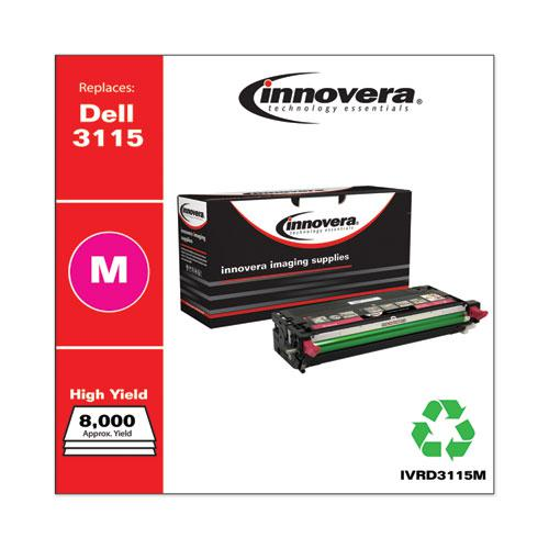 Remanufactured Magenta High-Yield Toner, Replacement for Dell 3115 (310-8399), 8,000 Page-Yield. Picture 2