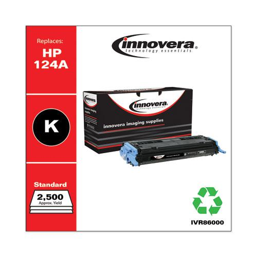 Remanufactured Black Toner, Replacement for HP 124A (Q6000A), 2,500 Page-Yield. Picture 2