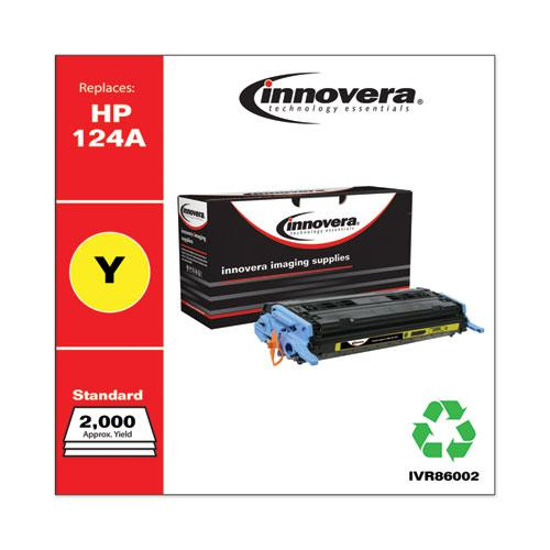 Remanufactured Yellow Toner, Replacement for HP 124A (Q6002A), 2,000 Page-Yield. Picture 1
