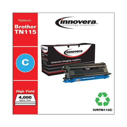 Remanufactured Cyan High-Yield Toner, Replacement for Brother TN115C, 4,000 Page-Yield. Picture 2