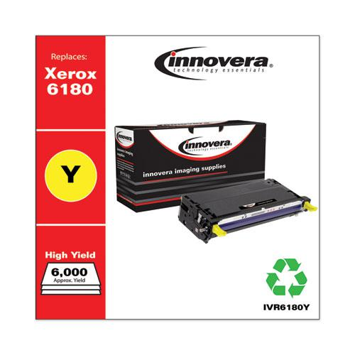 Remanufactured Yellow High-Yield Toner, Replacement for Xerox 6180 (113R00725), 6,000 Page-Yield. Picture 2