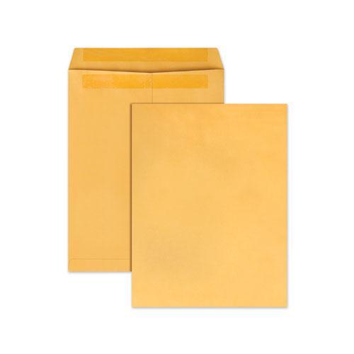 Redi-Seal Catalog Envelope, #13 1/2, Cheese Blade Flap, Redi-Seal Closure, 10 x 13, Brown Kraft, 100/Box. Picture 1