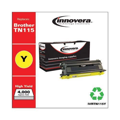 Remanufactured Yellow High-Yield Toner, Replacement for Brother TN115Y, 4,000 Page-Yield. Picture 2