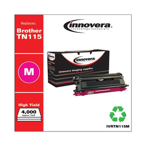 Remanufactured Magenta High-Yield Toner, Replacement for Brother TN115M, 4,000 Page-Yield. Picture 1