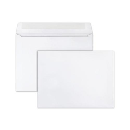 Open-Side Booklet Envelope, #10 1/2, Cheese Blade Flap, Gummed Closure, 9 x 12, White, 250/Box