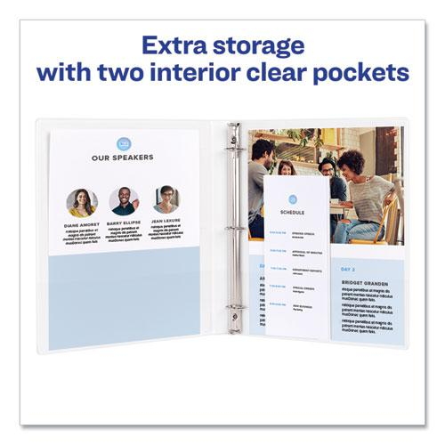 """Framed View Heavy-Duty Binders, 3 Rings, 1"""" Capacity, 11 x 8.5, White. Picture 3"""