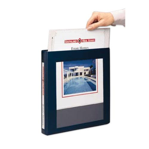 """Framed View Heavy-Duty Binders, 3 Rings, 1.5"""" Capacity, 11 x 8.5, Navy Blue. Picture 3"""