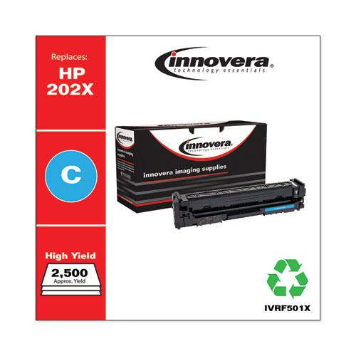 Remanufactured Cyan High-Yield Toner, Replacement for HP 202X (CF501X), 2,500 Page-Yield. Picture 1