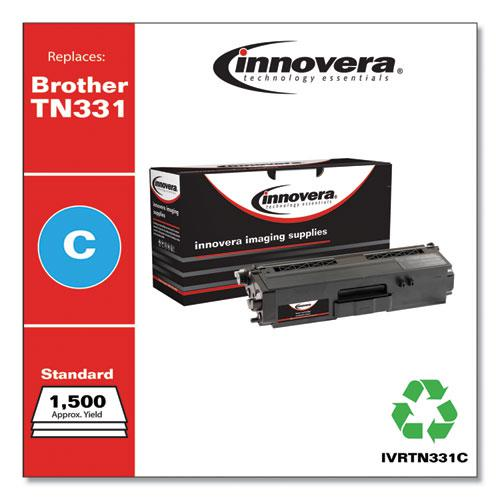 Remanufactured Cyan Toner, Replacement for Brother TN331C, 1,500 Page-Yield. Picture 1