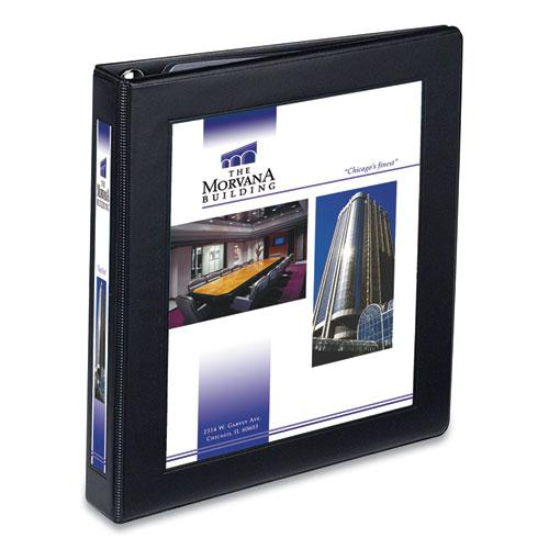 "Framed View Heavy-Duty Binders, 3 Rings, 1"" Capacity, 11 x 8.5, Black. Picture 1"