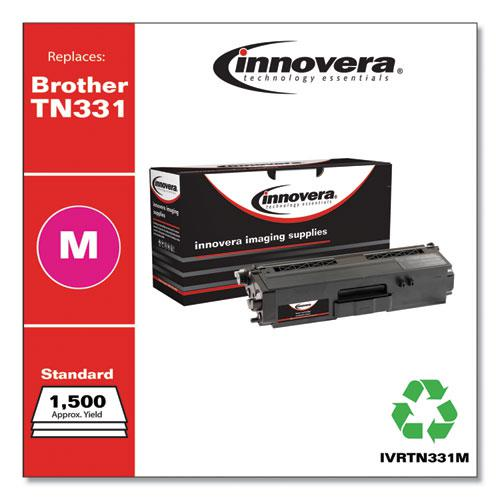 Remanufactured Magenta Toner, Replacement for Brother TN331M, 1,500 Page-Yield. Picture 1