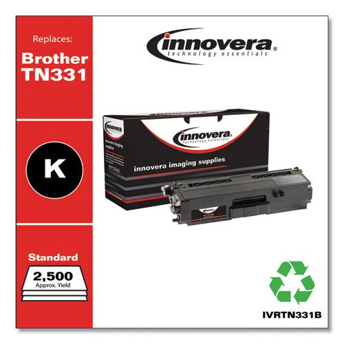 Remanufactured Black Toner, Replacement for Brother TN331BK, 2,500 Page-Yield. Picture 2