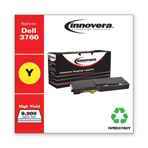 Remanufactured Yellow Toner, Replacement for Dell C3760 (331-8430), 9,000 Page-Yield. Picture 2