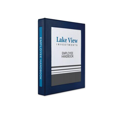 """Framed View Heavy-Duty Binders, 3 Rings, 1"""" Capacity, 11 x 8.5, Navy Blue. Picture 1"""