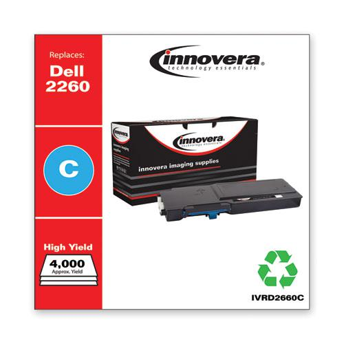 Remanufactured Cyan High-Yield Toner, Replacement for Dell D2660 (593-BBBT), 4,000 Page-Yield. Picture 2