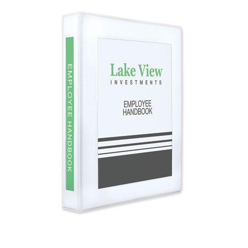 """Framed View Heavy-Duty Binders, 3 Rings, 1"""" Capacity, 11 x 8.5, White. Picture 1"""