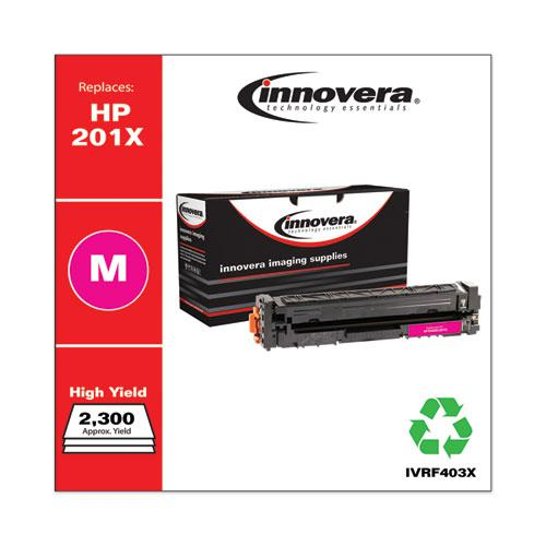 Remanufactured Magenta High-Yield Toner, Replacement for HP 201X (CF403X), 2,300 Page-Yield. Picture 1