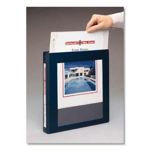"""Framed View Heavy-Duty Binders, 3 Rings, 1"""" Capacity, 11 x 8.5, Navy Blue. Picture 7"""
