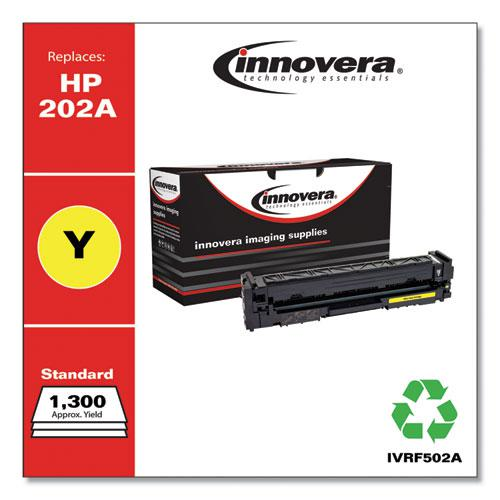 Remanufactured Yellow Toner, Replacement for HP 202A (CF502A), 1,300 Page-Yield. Picture 1