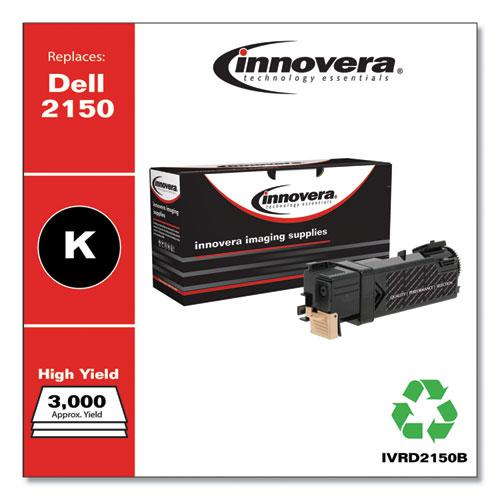 Remanufactured Black High-Yield Toner, Replacement for Dell 2150 (331-0719), 3,000 Page-Yield. Picture 2
