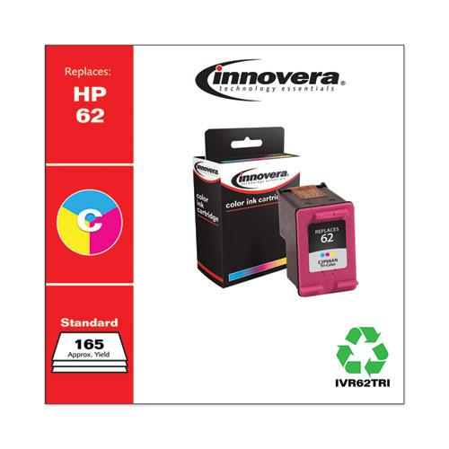 Remanufactured Tri-Color Ink, Replacement for HP 62 (C2P06AN), 165 Page-Yield. Picture 1
