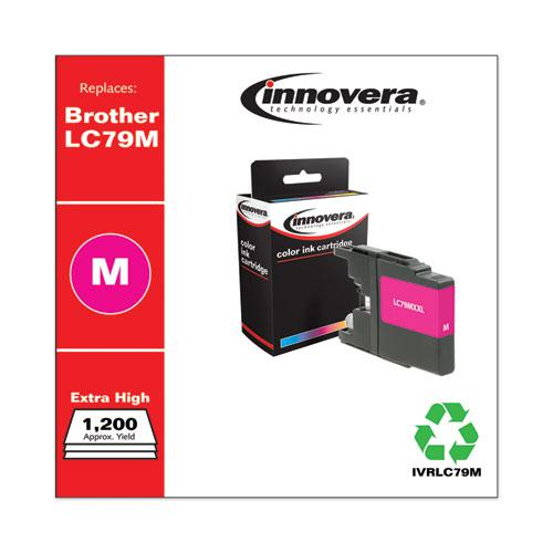 Remanufactured Magenta Extra High-Yield Ink, Replacement for Brother LC79M, 1,200 Page-Yield. Picture 2