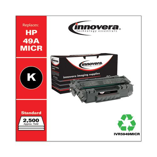 Remanufactured Black MICR Toner, Replacement for HP 49AM (Q5949AM), 2,500 Page-Yield. Picture 1
