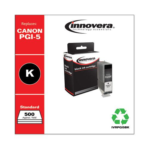 Remanufactured Black Ink, Replacement for Canon PGI-5BK (0628B002), 500 Page-Yield. Picture 2