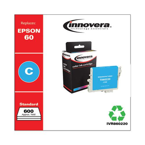 Remanufactured Cyan Ink, Replacement for Epson 60 (T060220), 600 Page-Yield. Picture 2