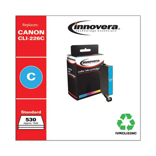 Remanufactured Cyan Ink, Replacement for Canon CLI-226 (4547B001AA), 530 Page-Yield. Picture 2