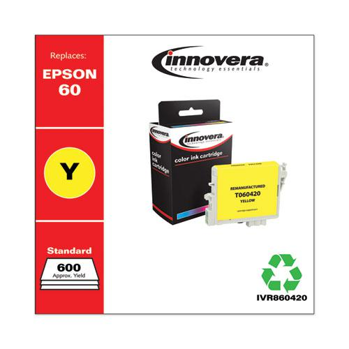Remanufactured Yellow Ink, Replacement for Epson 60 (T060420), 600 Page-Yield. Picture 2