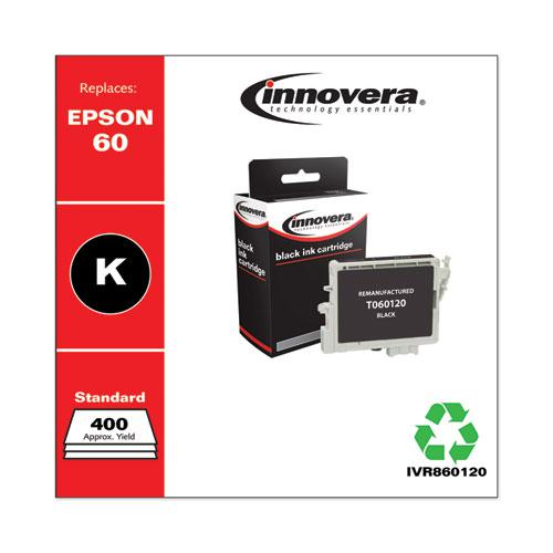 Remanufactured Black Ink, Replacement for Epson 60 (T060120), 400 Page-Yield. Picture 1