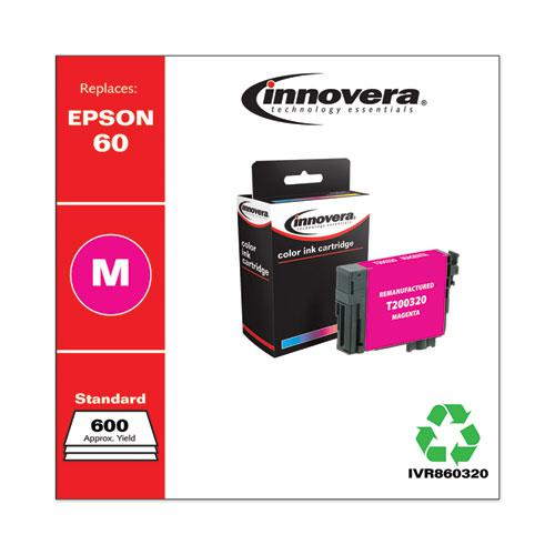 Remanufactured Magenta Ink, Replacement for Epson 60 (T060320), 600 Page-Yield. Picture 1