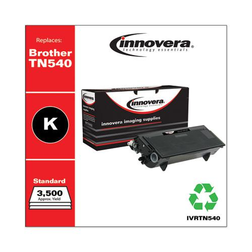 Remanufactured Black Toner, Replacement for Brother TN540, 3,500 Page-Yield. Picture 2
