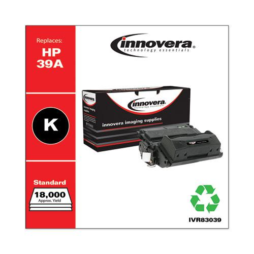 Remanufactured Black Toner, Replacement for HP 39A (Q1339A), 18,000 Page-Yield. Picture 1