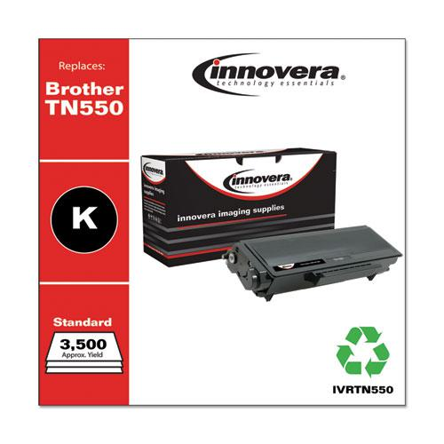 Remanufactured Black Toner, Replacement for Brother TN550, 3,500 Page-Yield. Picture 1
