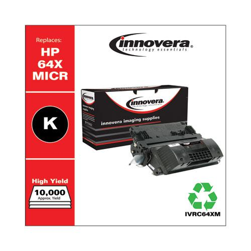 Remanufactured Black High-Yield MICR Toner, Replacement for HP 64XM (CC364XM), 24,000 Page-Yield. Picture 2