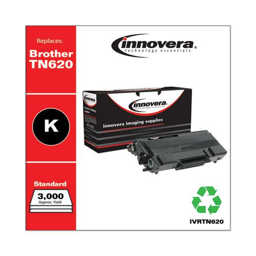 Remanufactured Black Toner, Replacement for Brother TN620, 3,000 Page-Yield. Picture 2