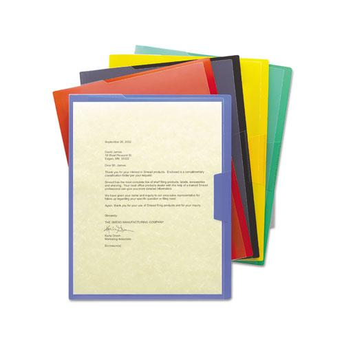Organized Up Poly Opaque Project Jackets, Letter Size, Assorted Colors, 5/Pack. Picture 2