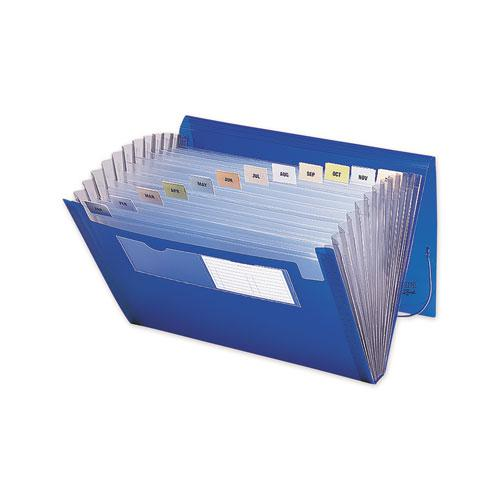 Expanding File with Color Tab Inserts, 12 Sections, Letter Size, Blue. Picture 2