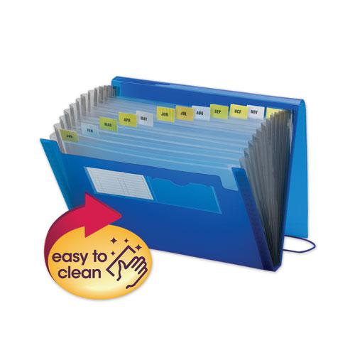 Expanding File with Color Tab Inserts, 12 Sections, Letter Size, Blue. Picture 1
