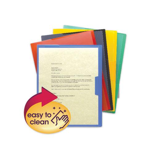 Organized Up Poly Opaque Project Jackets, Letter Size, Assorted Colors, 5/Pack. Picture 1