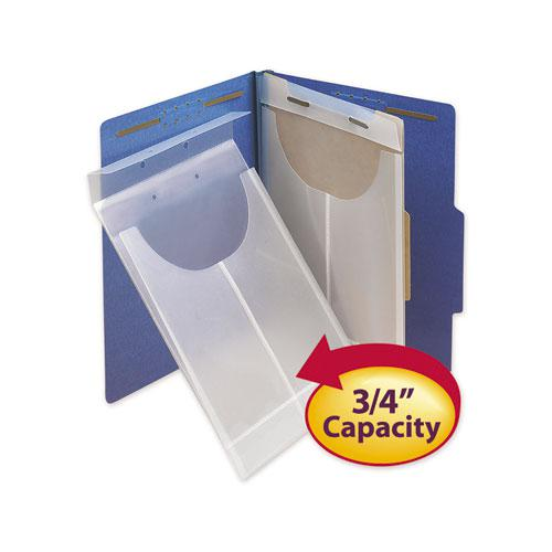 Two-Hole Letter/Legal Poly Expanding Jackets, 2-Hole Punched, Letter/Legal Size, Clear, 24/Box. Picture 3