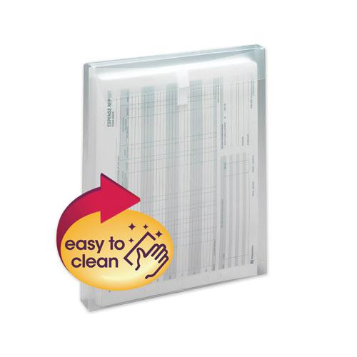 Top-Load Envelope, Fold Flap Closure, 9.75 x 11.63, Clear, 5/Pack. Picture 1