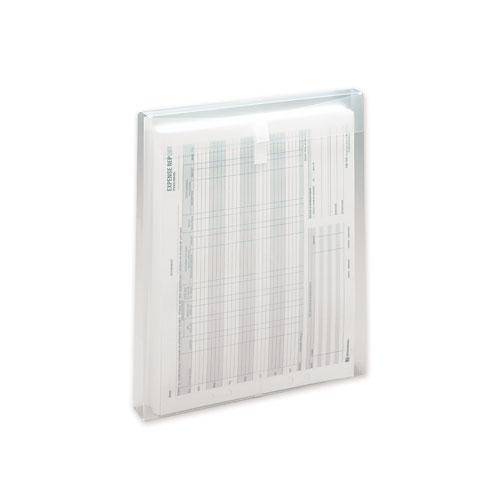 Top-Load Envelope, Fold Flap Closure, 9.75 x 11.63, Clear, 5/Pack. Picture 2