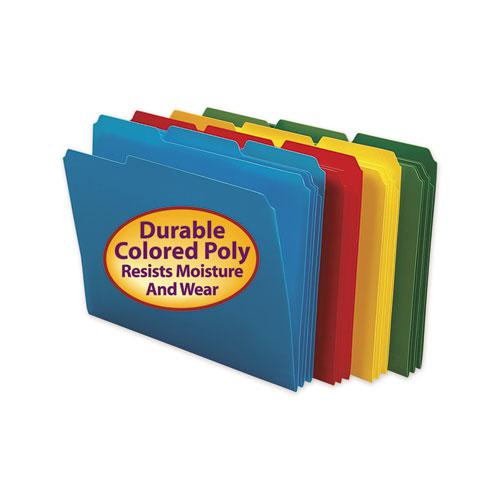 Top Tab Poly Colored File Folders, 1/3-Cut Tabs, Letter Size, Assorted, 24/Box. Picture 2