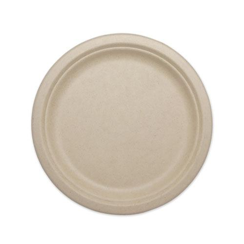 "Fiber Plates, 10"", Natural, 800/Carton. Picture 1"
